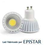 Bombilla con led Epistar Spotlight cob 6 w 220v Luz NATURAL 420lm 60g