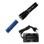 LINTERNA MINI CON ZOOM RECARGABLE 1 SUPERLED CREE XML-T6